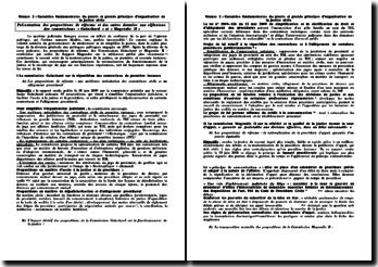 commissions « Guinchard » et « Magendie II »
