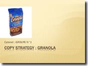 Granola extra cookies Copy Strategy Etude de cas