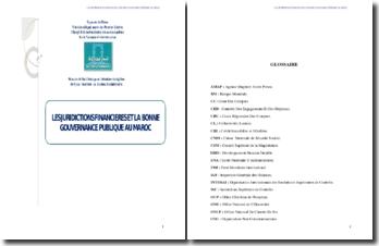 Les juridictions financières et la bonne gouvernance
