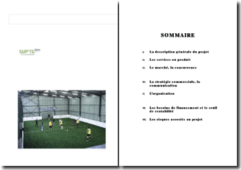 business plan complexe de football indoor