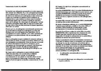 commentaire arret 18 avril 2000 cour de cass