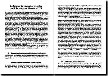 Déclaration du chancelier Maupéou