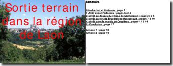 Sortie terrain dans la région de Laon