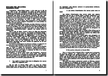 CE 20 juillet 1990, ville de Melun: commentaire d'arrêt