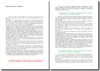 Régime général de l'obligation: arrêt du 12 janvier 2010