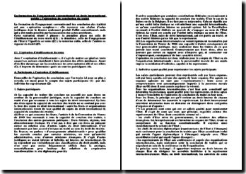La conclusion du traité en droit international