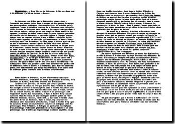 Dissertation de Français littérature et théâtre