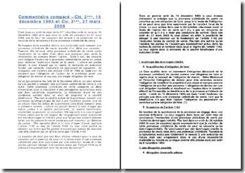 Civ. 3ème, 15/12/1993 et Civ. 3ème, 27/03/2008
