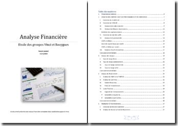 Comparaison Financière des groupes Bouygues et Vinci (2010)