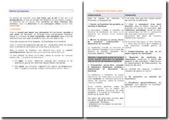 Contrat de franchise - définition et obligations des contractants