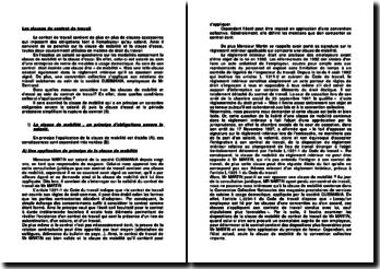 Les clauses du contrat de travail : cas pratique
