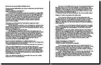 Histoire des institutions (XVIème-XVIIème siècle)
