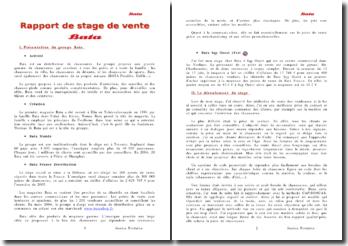 Rapport de stage Bata