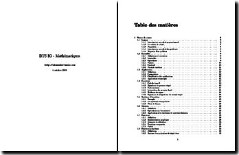 BTS informatique de gestion : mathématiques