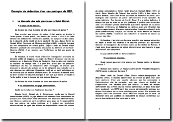 Exemple de rédaction d'un cas pratique sur le REP