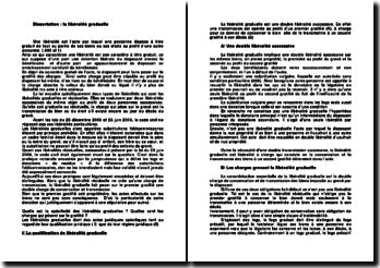 les libéralités graduelles - qualification et régime juridique