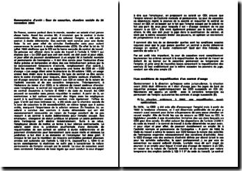 La requalification des contrats et les pouvoirs du juge: commentaire d'arrêt de la cour de cassation du 26 novembre 2003