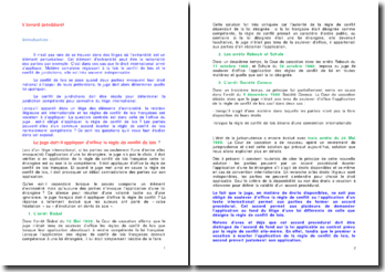 L'accord procédural lors d'un litige international