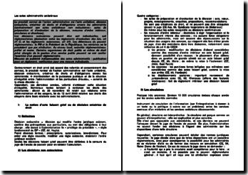 Les actes administratifs unilatéraux: le procédé normal de l'action administrative