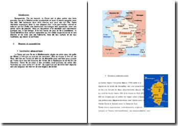 La Corse: dossier de présentation