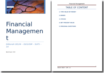 Financial Management - Assignment