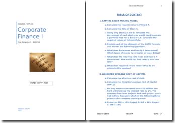 Corporate Finance I