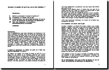 Dissertation : le fatalisme