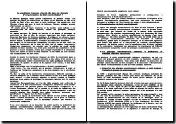 Constitution et européanisation du droit
