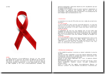La prévention et les conséquences du sida face à la transmission du virus