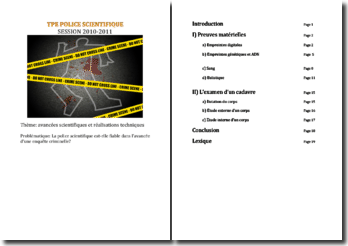 TPE - La police scientifique