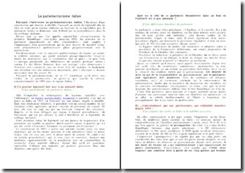 Le parlementarisme italien