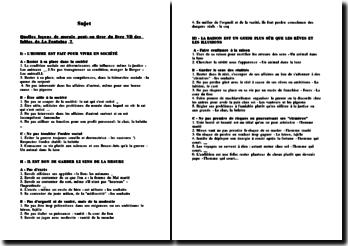 Quelles leçons de morale peut-on tirer du livre VIl des fables de La Fontaine ?