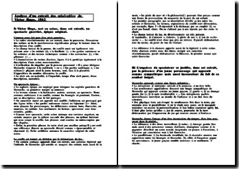 Analyse d'un extrait des misérables de Victor Hugo, 1862 (2011)
