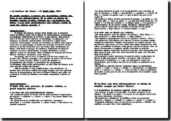 « Au bonheur des dames » de Emile Zola, 1883 De quelle manière, à travers une description réaliste des lieux et une métamorphose de ce cadre en champ de bataille, terrain de lutte ?