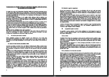 Commentaire de l'arrêt rendu par la deuxième Chambre civile de la Cour de cassation le 18 octobre 2007