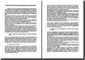 Commentaire de l'arrêt de l'assemblée plénière du 21 décembre 2007