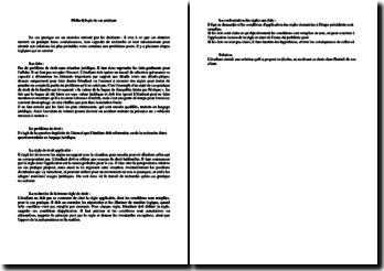Méthodologie du cas pratique - le conseil juridique et ses recherches