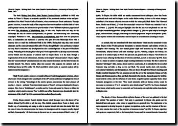 Writing Huck Finn: Twain's Creative Process