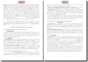 Commentaire Composé de la lettre XCIX (99) sur la Mode des Lettres Persanes de Montesquieu