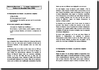 Simone de Beauvoir - La femme indépendante (extrait du Deuxième Sexe)