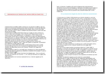 Commentaire de l'article 2286, alinéa 4 du Code Civil
