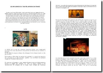 Les influences du théâtre japonais en france