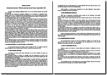 Commentaire de texte: Traité du sacre des rois de France, Jean Golein 1372