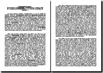 Denis Diderot, L'Encyclopédie, «Avertissement» (Volume VIII) De «Lorsque nous commençâmes» à «C'est M. le chevalier de Jaucourt.»