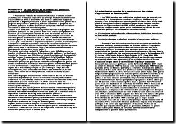 Le Code général de propriété des personnes publiques et la définition du domaine public
