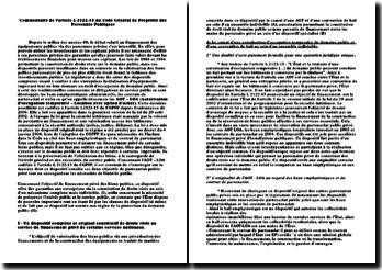 Commentaire de l'article L2122-15 du Code Général de Propriété des Personnes Publiques