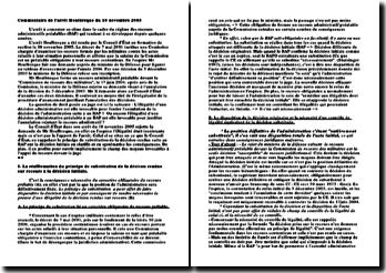 Commentaire de l'arrêt Houlbreque : CE 18 novembre 2005