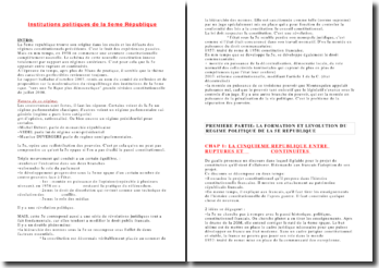 Cours licence 1 droit institutions politique de la 5eme république