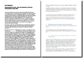 Droit Bancaire Commentaire d'arrêt : Cour de Cassation, Chambre commerciale 3 mai 1995