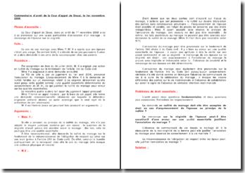 Commentaire d'arrêt de la Cour d'appel de Douai, le 1er novembre 2008